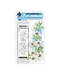 Lily Border Set Stamps - Bible Journaling - Art Impressions*
