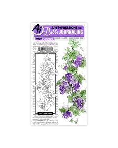 Grape Border Set Stamps - Bible Journaling - Art Impressions*