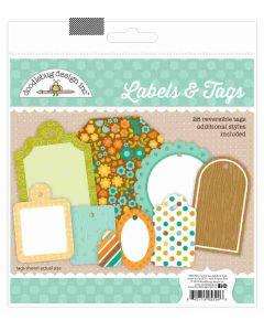 Flea Market Labels & Tags - Pumpkin Spice - Doodlebug*