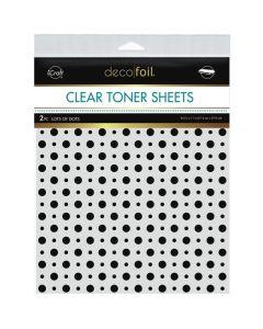 Clear Toner Sheets, Lots of Dots - Deco Foil - Therm-O-Web