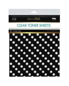 Clear Toner Sheets, Reverse Polka - Deco Foil - Therm-O-Web