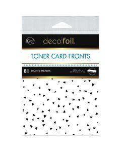 White Toner Sheets, Dainty Hearts - Deco Foil - Therm-O-Web