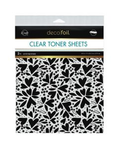 Clear Toner Sheets, Love Blooms - Deco Foil - Therm-O-Web
