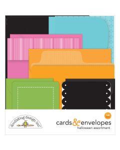 Booville Halloween Cards & Envelopes - Ghost Town - Doodlebug*