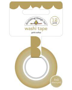 Gold Scallop Washi Tape
