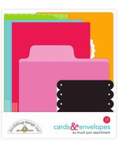 Doodlebug Christmas Town Cards & envelopes