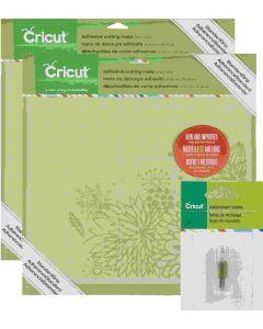 Cricut Mats/Blades Bundle - 4 Mats (12 x 12), 2 Blades packaging