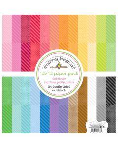 Doodlebug Dot-Stripe Rainbow Petite Prints