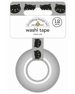 Doodlebug black cats washi tape