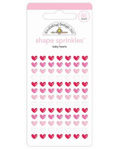 Doodlebug Baby Hearts Shape Stickers