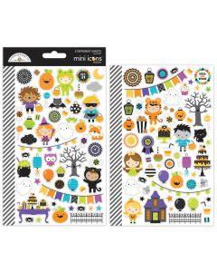 Doodlebug pumpkin party mini icons sticker