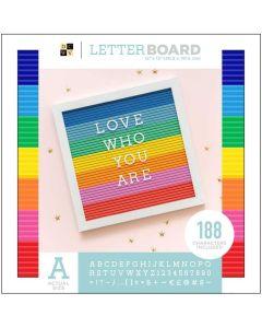 """Multicolor 12"""" x 12"""" Letterboard - DCWV*"""