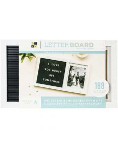 """Letterboard 15.5"""" x 9"""" w/ Photo Frame, Letters - DCWV*"""