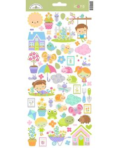 Simply Spring Icons Stickers