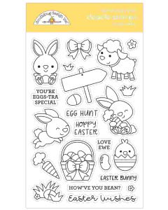 Hoppy Easter Doodle Stamps