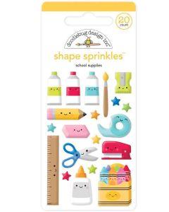 School Supplies Shape Sprinkles - School Days - Doodlebug Design