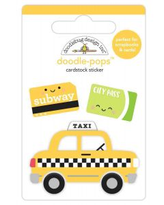 Taxi! Doodle-Pops - I Heart Travel - Doodlebug Design