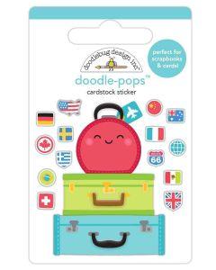 Pack Your Bags Doodle-Pops - I Heart Travel - Doodlebug Design