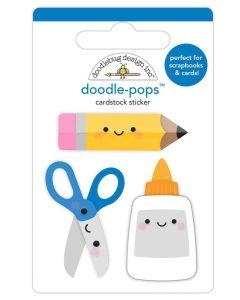 Cut & Paste Doodle-Pops - School Days - Doodlebug Design