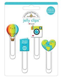 I Heart Travel Jelly Clips - Doodlebug Design