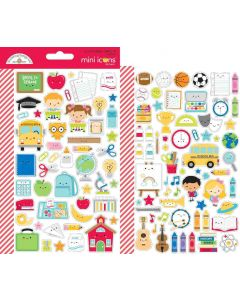 School Days Mini Icon Stickers - Doodlebug Design