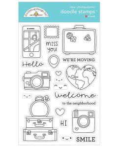 I Heart Travel Doodle Stamps - Doodlebug Design