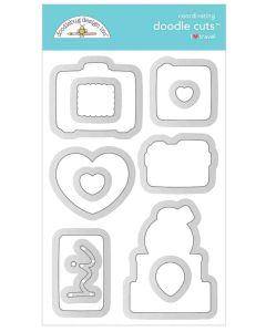 I Heart Travel Doodle Cuts - Doodlebug Design
