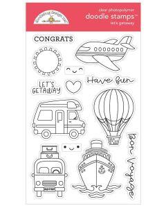 Let's Getaway Doodle Stamps - I Heart Travel - Doodlebug Design