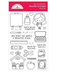 School Girl Doodle Stamps - Doodlebug Design
