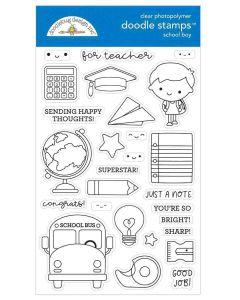 School Boy Doodle Stamps - Doodlebug Design