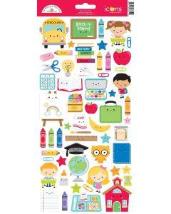 School Days Icon Stickers - Doodlebug Design