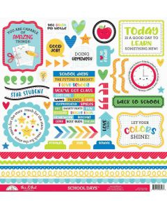 School Days This & That Stickers - Doodlebug Design