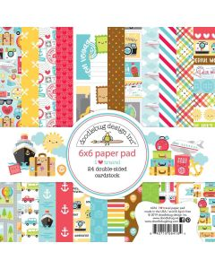 "I Heart Travel 6"" x 6"" Paper Pad - Doodlebug Design"