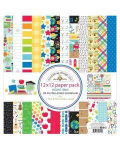 """School Days 12"""" x 12"""" Paper Pack - Doodlebug Design"""