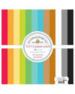 I Heart Travel Textured Cardstock Assortment Pack - Doodlebug Design