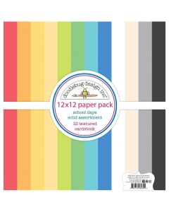 School Days Textured Cardstock Assortment Pack - Doodlebug Design