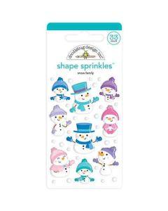 Snow Family Shape Sprinkles - Winter Wonderland - Doodlebug Design