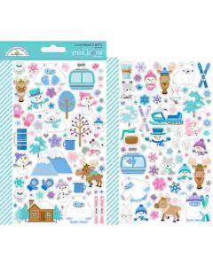Winter Wonderland Mini Icons Stickers - Doodlebug Design *