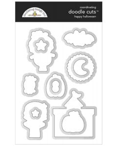 Happy Halloween Doodle Cuts Dies - Candy Carnival - Doodlebug Design
