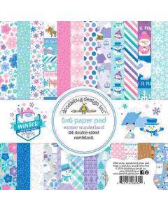 """Winter Wonderland 6"""" x 6"""" Paper Pad- Doodlebug Design"""