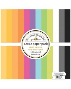 Candy Carnival Textured Cardstock Assortment Pack - Doodlebug Design