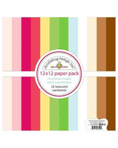 """Christmas Magic Textured Cardstock 12"""" X 12"""" Assortment Pack - Doodlebug Design"""