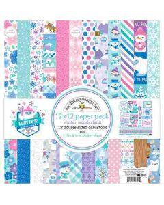 """Winter Wonderland 12"""" x 12"""" Paper Pack - Doodlebug Design"""