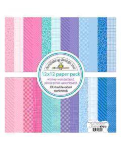 "Winter Wonderland Petite Print 12"" X 12"" Assortment Pack - Doodlebug Design"