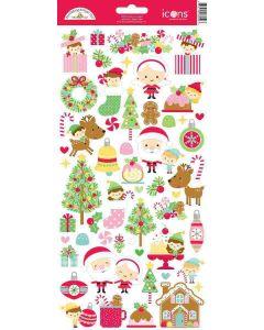 Christmas Magic Icons Stickers - Doodlebug Design