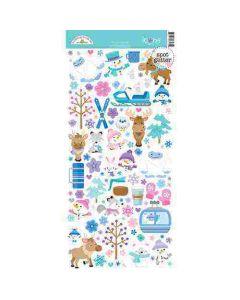 Winter Wonderland Icons Stickers - Doodlebug Design *