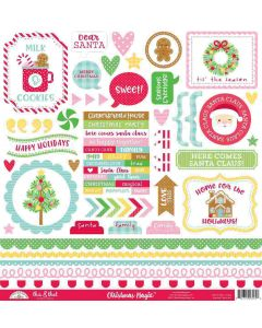Christmas Magic This & That Stickers - Doodlebug Design