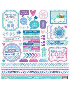 Winter Wonderland This & That Stickers - Doodlebug Design *