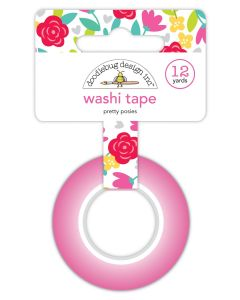 Pretty Posies Washi Tape - Love Notes - Doodlebug Design