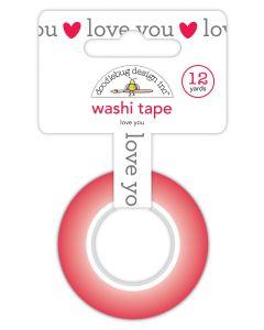 Love You Washi Tape - Love Notes - Doodlebug Design